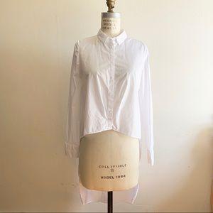 Zara - High-Low Tuxedo Shirt